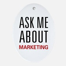 Ask Me Marketing Oval Ornament