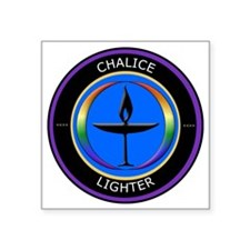 "Chalice Lighter logo Square Sticker 3"" x 3"""