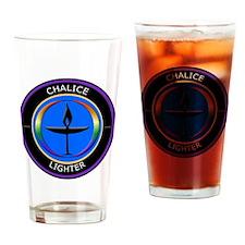 Chalice Lighter logo Drinking Glass