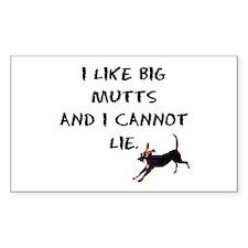 I like big mutts Rectangle Decal