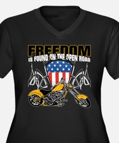 Freedom Chop Women's Plus Size V-Neck Dark T-Shirt