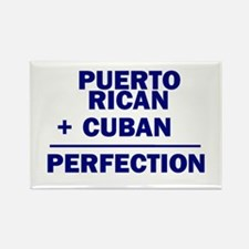 Cuban + Puerto Rican Rectangle Magnet