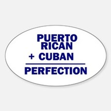 Cuban + Puerto Rican Oval Decal