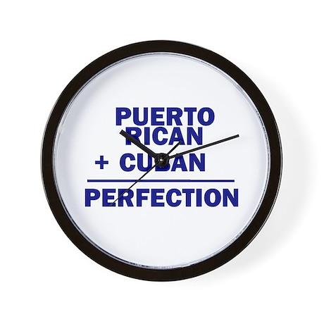 Cuban + Puerto Rican Wall Clock