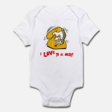 I love to be noisy Infant Bodysuit