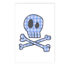 Blue Gingham Pirate Postcards (Package of 8)