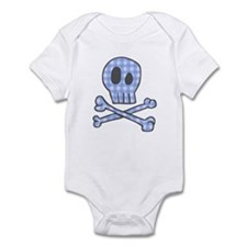 Blue Gingham Pirate Infant Bodysuit