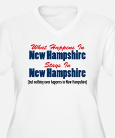 What Happens In New Hampshire Plus Size T-Shirt