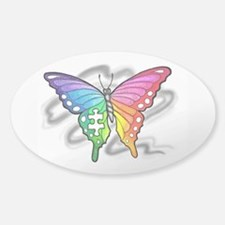 Rainbow butterfly with Puzzle piece Decal