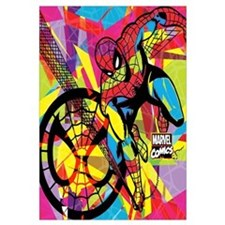 Spiderman Color Shards Wall Art