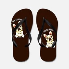 Fawn Frenchie IAAM Brown Flip Flops