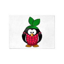 Raspberry Penguin 5'x7'Area Rug