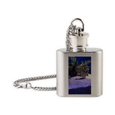 Seahorse Pair Flask Necklace