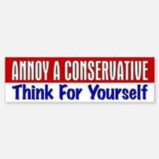 AAC Think For Yourself Bumper Bumper Bumper Sticker
