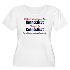 What Happens In Connecticut Plus Size T-Shirt