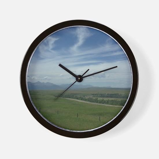 Alberta Summer Landscape Wall Clock