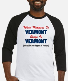 What Happens In Vermont Baseball Jersey