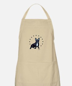 Frenchie in Stars Apron
