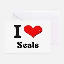 I love seals  Greeting Cards (Pk of 10)