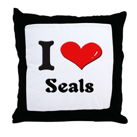 I love seals Throw Pillow