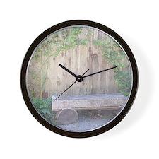 Rustic Bench Wall Clock