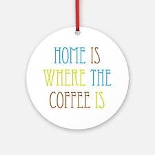 Home Coffee Ornament (Round)