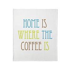 Home Coffee Throw Blanket
