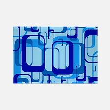 retro pattern 1971 blue Magnets