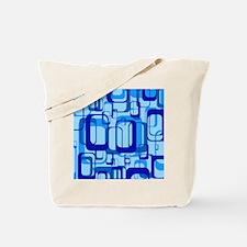 retro pattern 1971 blue Tote Bag