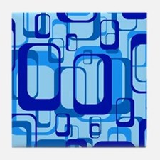 retro pattern 1971 blue Tile Coaster