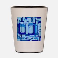 retro pattern 1971 blue Shot Glass