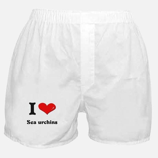 I love sea urchins  Boxer Shorts
