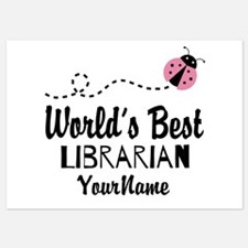 World's Best Librarian 5x7 Flat Cards