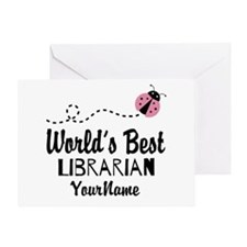 World's Best Librarian Greeting Card