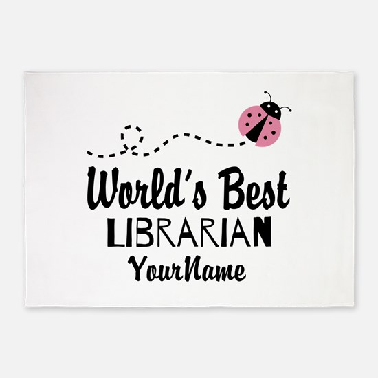 World's Best Librarian 5'x7'Area Rug
