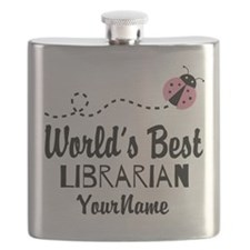 World's Best Librarian Flask