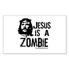 Jesus is a Zombie Rectangle Decal