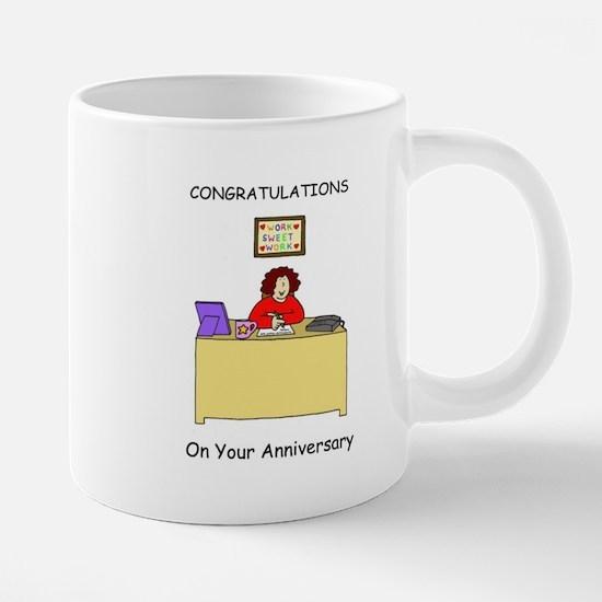 Work anniversary congratulations. Mugs