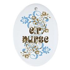 ER Nurse Ornament (Oval)