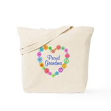 Proud Grandma Heart Tote Bag