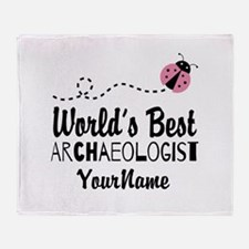 World's Best Archaeologist Throw Blanket