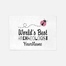 World's Best Archaeologist 5'x7'Area Rug