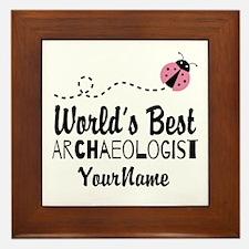 World's Best Archaeologist Framed Tile