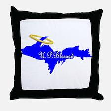 U.P. Blessed w/Halo Throw Pillow