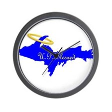 U.P. Blessed w/Halo Wall Clock