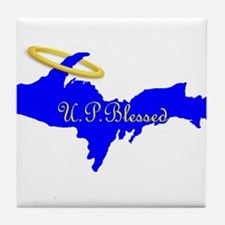 U.P. Blessed w/Halo Tile Coaster