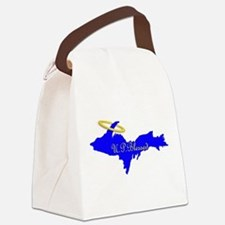U.P. Blessed w/Halo Canvas Lunch Bag