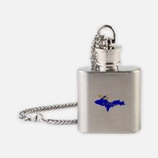 U.P. Blessed w/Halo Flask Necklace