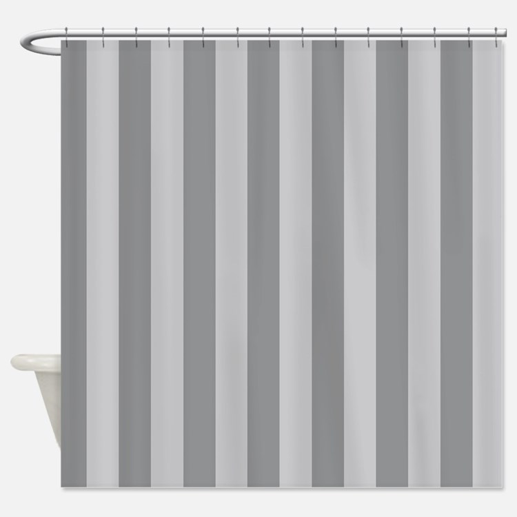 Grey Stripes Shower Curtains Grey Stripes Fabric Shower Curtain Liner