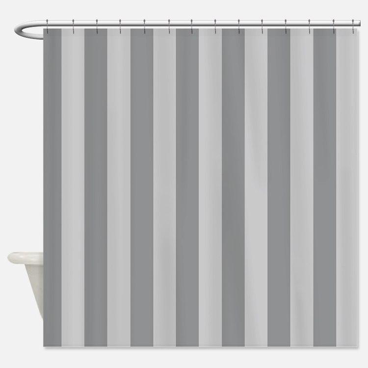 Grey Stripe Shower Curtains